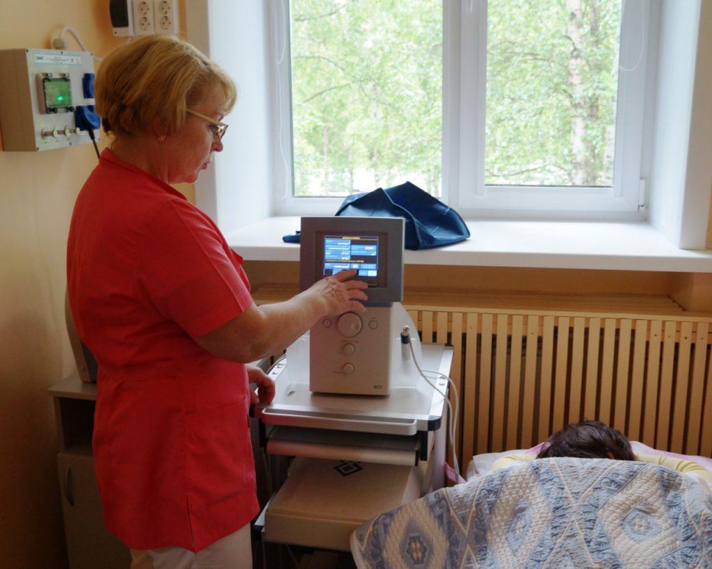 Кабинет физиотерапии Архангельского ПНД
