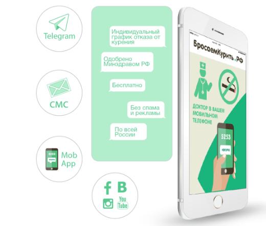 Мобильное приложение бросить курить