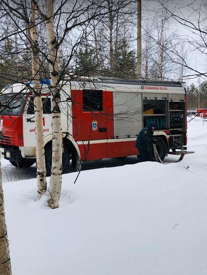В больнице прошло тренировочное пожарно-тактическое учение